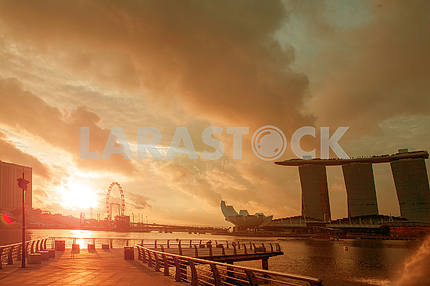 Summer sunset in Singapore
