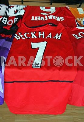 Beckham original football jersey