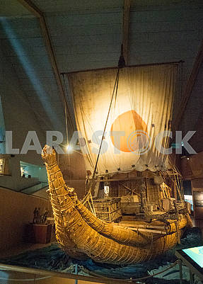 Papyrus boat Ra in the museum
