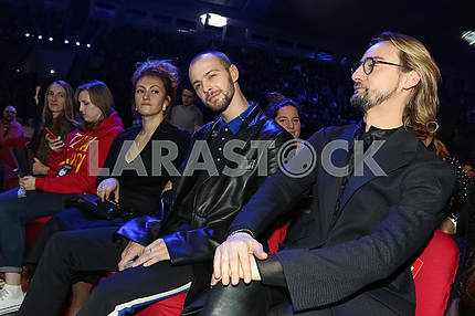 Max Barskikh and Alan Badoev at the award ceremony of the M1 Awards 2016