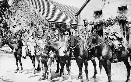 German horseman scouts.