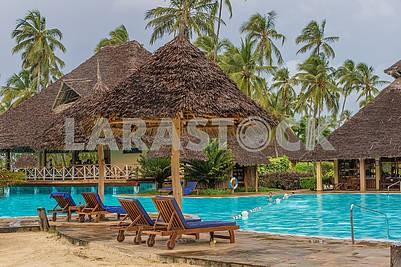 Swimming pool near the hotel in Zanzibar