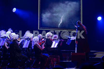 Orchestra in wigs of the XVIII century