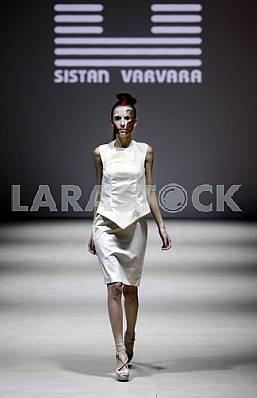 The model walk during demonstrates outfit by Ukrainian designer Sistan Varvara