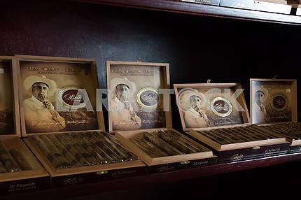 Cuban cigars in a tobacco shop. Little Havana. Miami