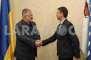 Igor Kolomoisky and Gleb Prigunov