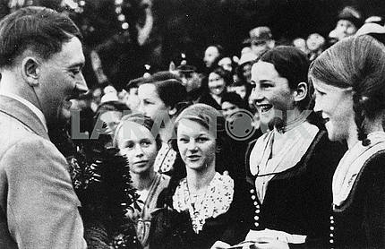 Adolf Hitler and the German girl