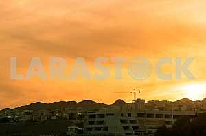 Eilat. Israel. Golden sunset