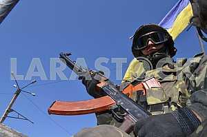 A soldier APU NP Chernukhin