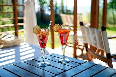 Cocktail beach vacation sea