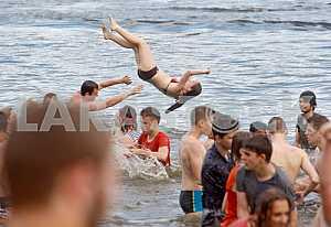 Water battle in Hydropark in Kiev