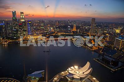 QUAY MARINA BAY EVENING