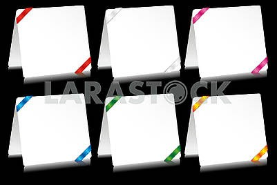 Sheets of paper notepads with bright ribbons