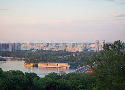 View of the Dnieper and the Metro Bridge