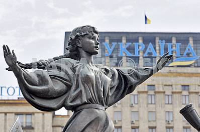 Monument to the founders of Kiev Kyi, Cheek, Horeb and their sister Lybid