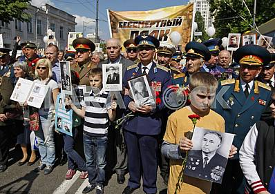 Celebrating the 71 th anniversary of Victory over Nazism in Kiev
