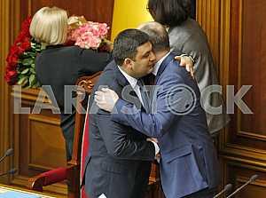 Prime Minister Volodymyr Groysman and Speaker Andriy Parubiy