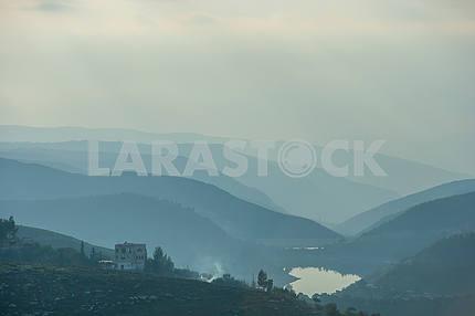 Lake in the mountains of Jordan