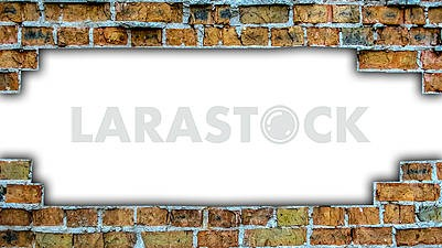 Destroyed brick wall with copyspace for your text
