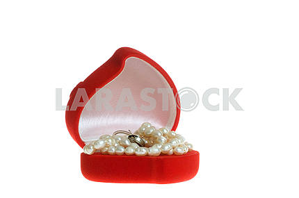 gift box with beads