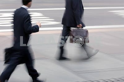 Image of a business man on the street