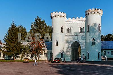 Entry tower of the palace and park complex Lopukhins-Demidov in Korsun