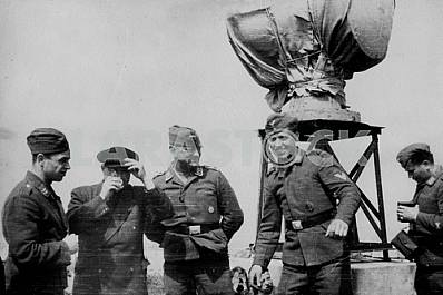 The Germans have anti-aircraft tower. The Second World War