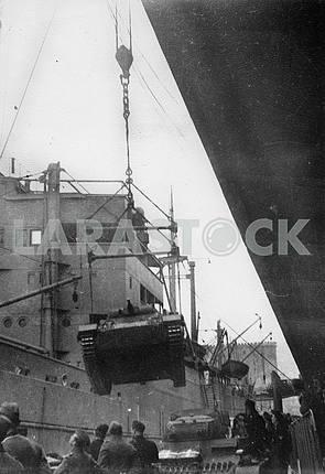 Shipment of german tanks.