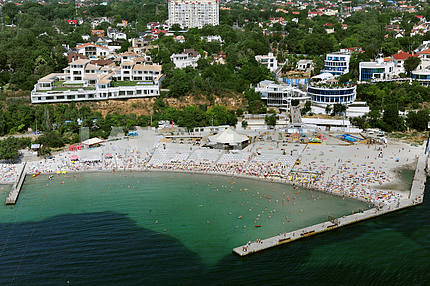Odessa. Aerial view. Arcadia Beach in September 27, 2011