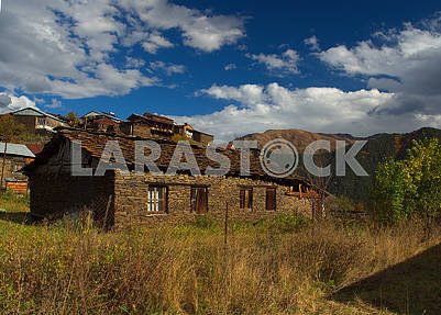 Stone house in Omalo, Georgia