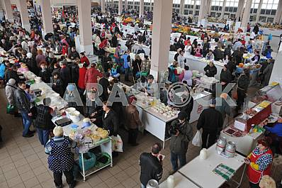"Shopping malls in the market ""Privoz"" in Odessa, April 6, 2012"