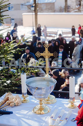 Priladzha for the consecrated water