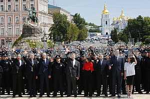 Patrol police of Kyiv
