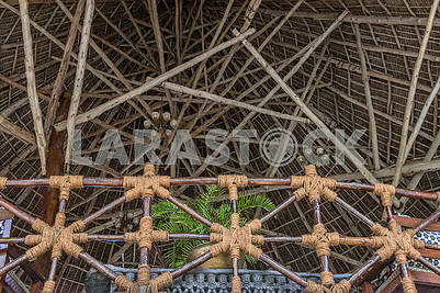 The roof of the hotel in Zanzibar