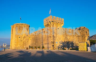 The fortress of Kamerlengo in Trogir in the morning
