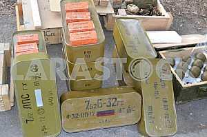 TNT blocks, cartridges and grenades