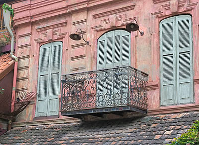 Balcony and shutters in the puppet theater