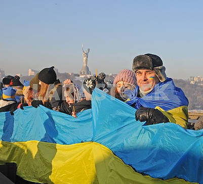 """Participants of the action """"Unite the banks of the Dnieper"""" living chain """"Unity"""""""