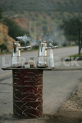 Roadside Tea Trading in Jordan
