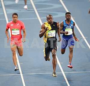 Usain Bolt won the race