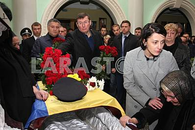 Farewell to the dead policemen Kutusheva Artem and Olga Makarenko