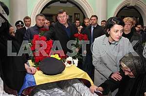 Farewell to the dead policemen Kutusheva Artem and Olga Makarenko