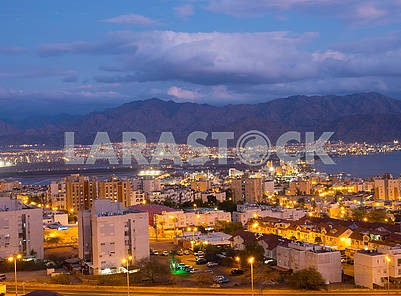 Rain cloud over Eilat