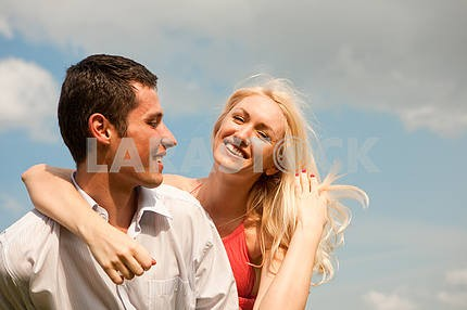 Young love Happy smiling couple