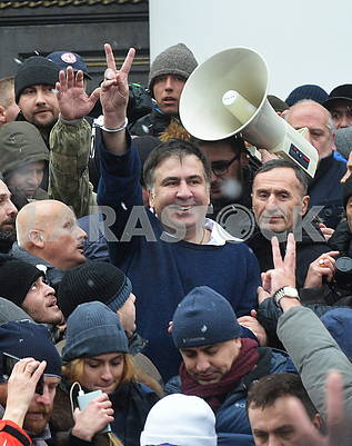 Mikheil Saakashvili and his supporters