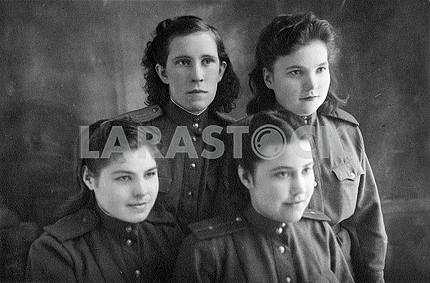 Soviet nurses in the form