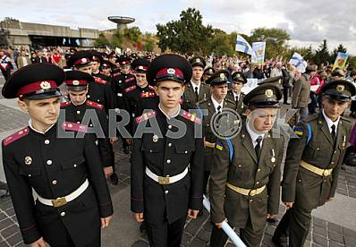 Cadets take part in the Peace March in Kiev
