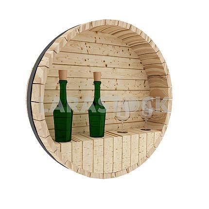 Wine oak barrel decoration in 3D rendering