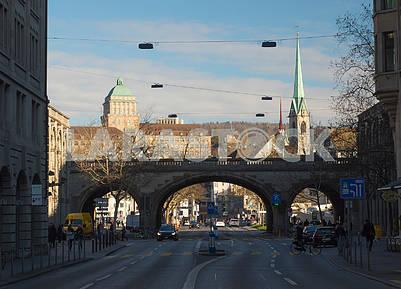 The bridge in Zurich
