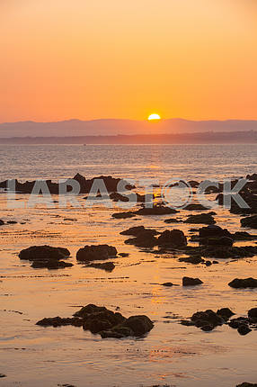 Beautiful view of the Monterey Bay at sunset